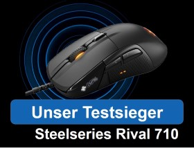 Unser Gaming Maus Testsieger - SteelSeries Rival 710
